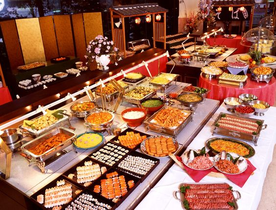 Japanese buffet style popular among visiters