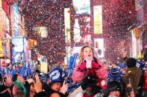 ニューヨークの大晦日カウントダウン花火イベント