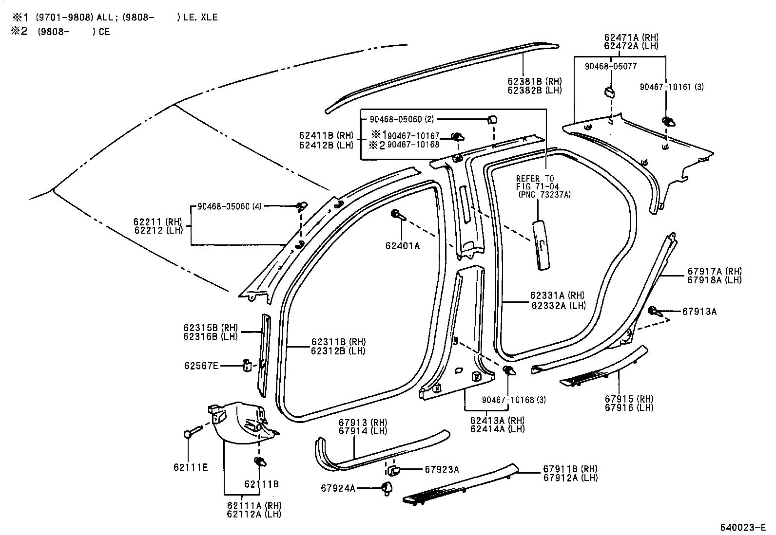 Toyota Door Parts