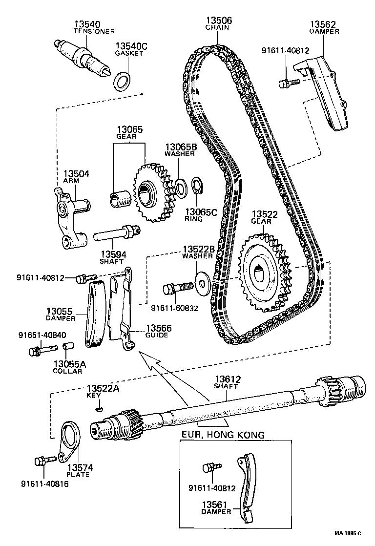 2003 toyota corolla timing chain