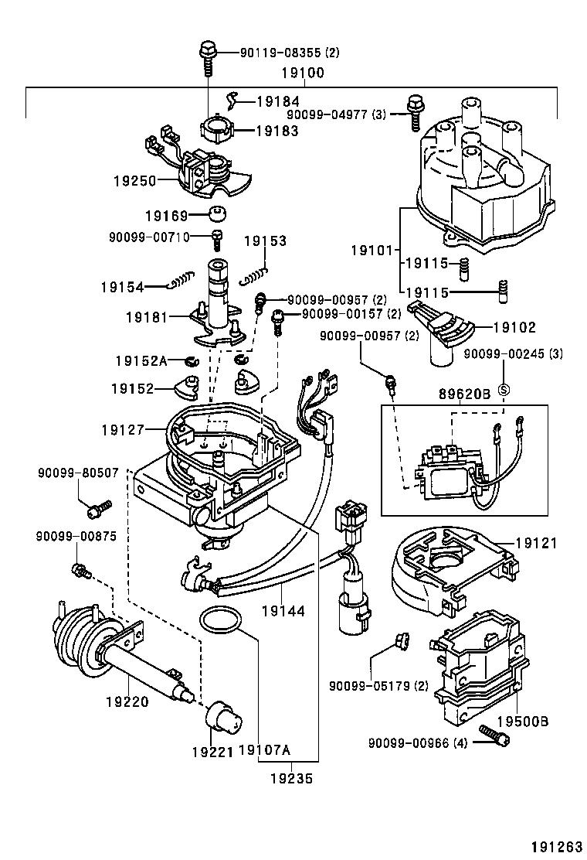 Toyota corolla sed cp wgae101l aemdu tool engine fuel 191263 1902 distributor toyota 4afe engine diagram toyota 4afe engine diagram