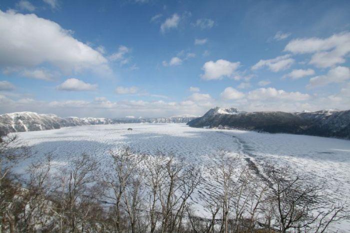 冬の摩周湖