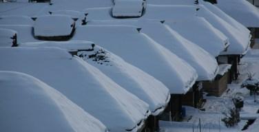 冬の大内宿
