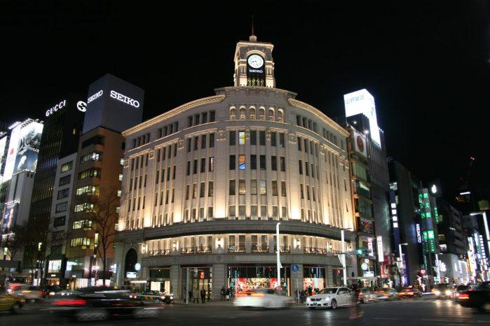 東京の夜の風景 銀座
