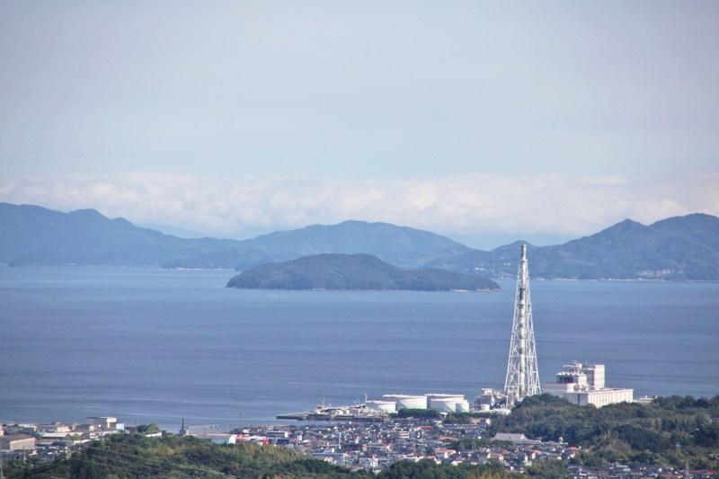 岩国城から瀬戸内海を望む