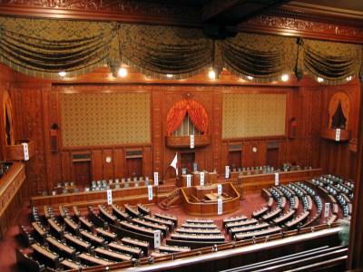 国会議事堂内