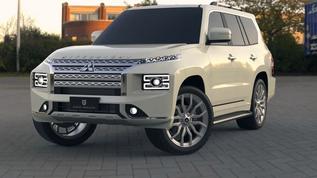 2021 mitsubishi pajero renderings changes release date