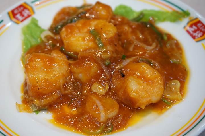 Gyoza OHSHO 餃子の王将 Stir-fried Shrimp in Chilli Sauce 海老のチリソース