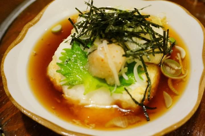 Deep fried tofu with Japanese broth あげ出し豆腐 - Kigurajyaya きぐら茶屋 - Izakaya 居酒屋