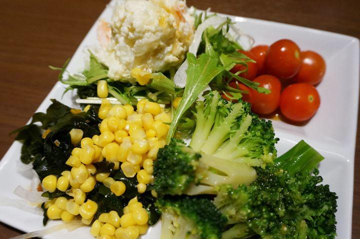 All-You-Can-Eat Vegetables (Buffet) お野菜ビュッフェ - RYUSENJINOYU Hot Springs / SPA in Soka City Saitama 竜泉寺の湯 草加谷塚店