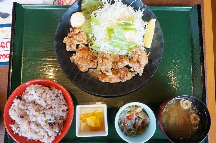 Deep Fried Chicken Set Meal 唐揚げ定食 - RYUSENJINOYU Hot Springs / SPA in Soka City Saitama 竜泉寺の湯 草加谷塚店