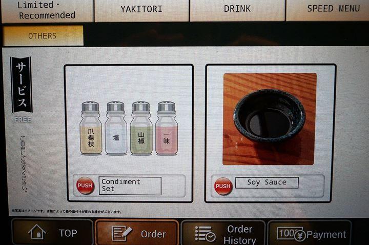 Torikizoku 鳥貴族 Condiment Set 薬味セット