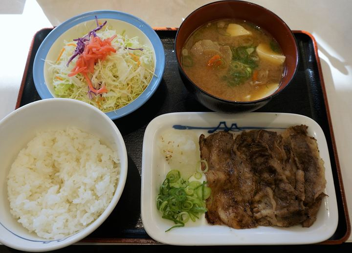 Barbecued Beef Set Meal 牛焼肉定食 - Matsuya 松屋