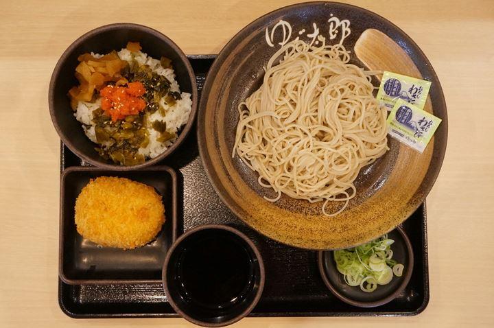 ワンコインセット ミニ明太高菜ごはん - Soba 蕎麦 そば - YUDETARO ゆで太郎