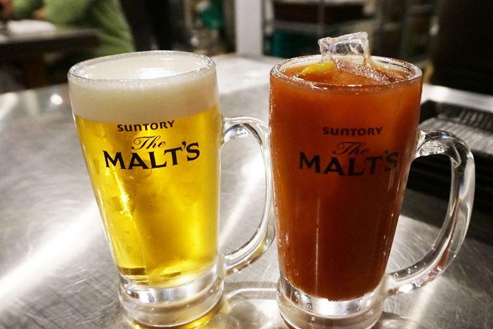 Draft Beer SUNTORY Malt's モルツ・ザ・ドラフト Tomato Shochuトマトハイ - Otonba (Higashi Ueno Branch) おとんば 東上野店