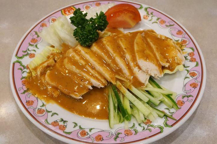 Gyoza OHSHO 餃子の王将 - Steamed Chicken with Sesame Sauce 棒々鶏 (蒸し鶏)