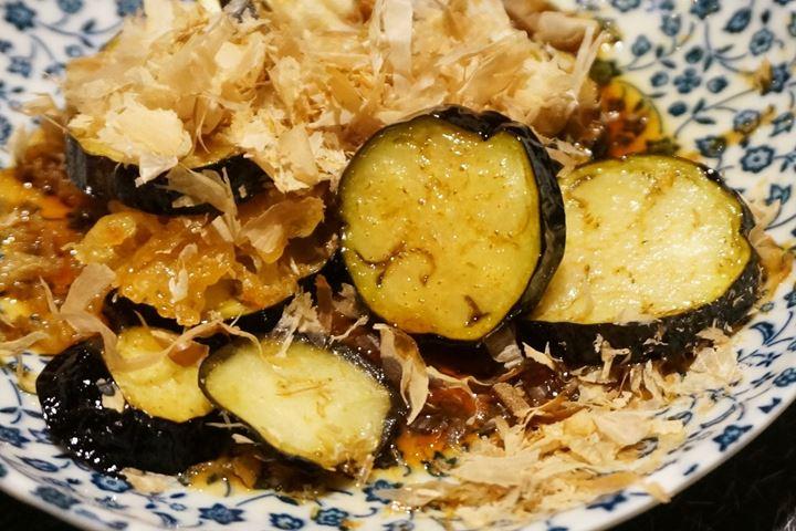 Deep Fried Egg Plant 揚げナス - YAKITORIDON Komagome Branch 焼鳥どん 駒込店