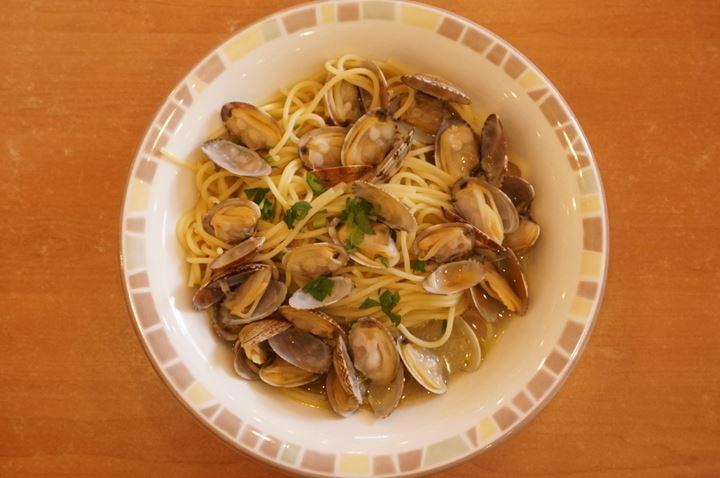 スープ入り塩味ボンゴレ Spaghetti Vongole with Salt Soup スパゲッティ - Saizeriya サイゼリヤ