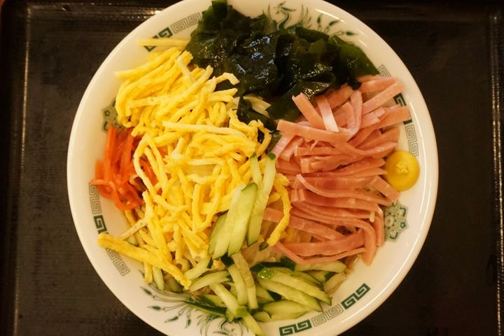 Hiyashi Chuka (Chilled Noodles) Large - HIDAKAYA 日高屋 冷やし中華 黒酢しょうゆ冷し麺 大盛