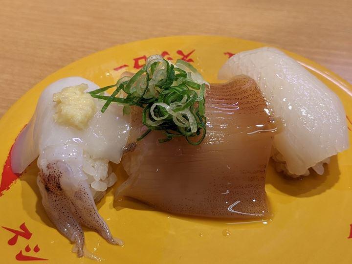 SUSHIRO スシロー Squid いか3貫盛り