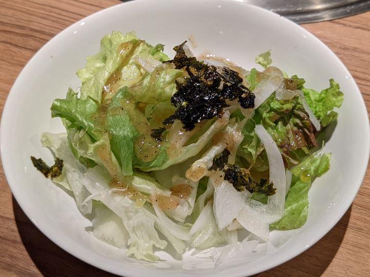 チョレギサラダ Korean Style Green Salad 焼肉 安楽亭 Yakiniku ANRAKUTEI