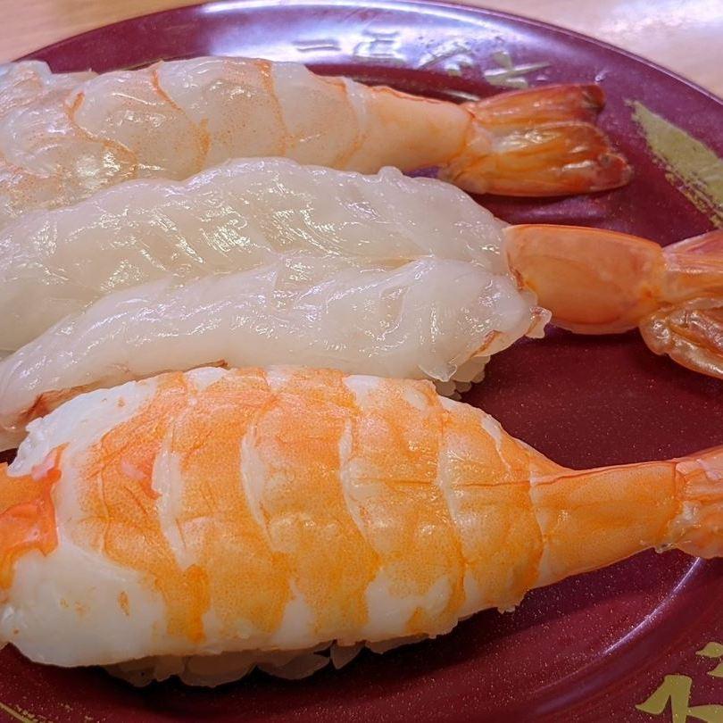 SUSHIRO スシロー Large Shrimps 大えび3貫盛り
