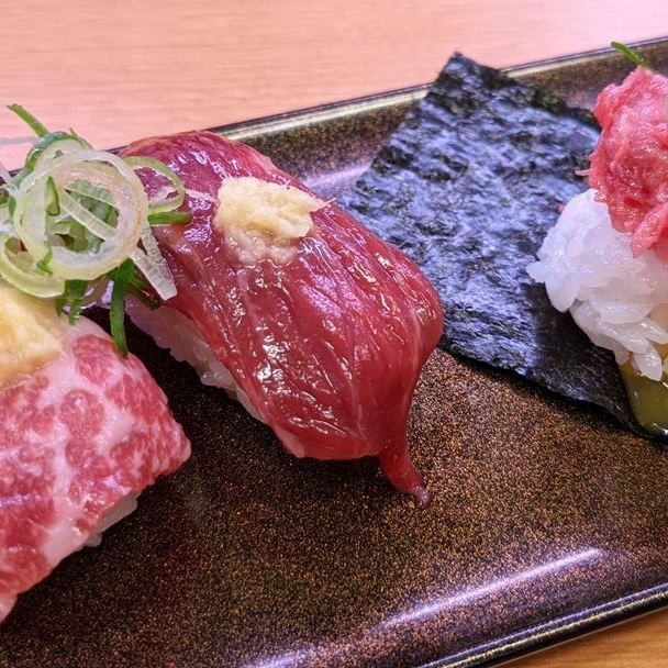 SUSHIRO スシロー Horse Sashimi 馬刺し食べ比べ