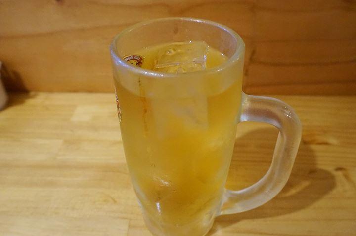 Green Tea Mixed with Shochu 緑茶割り - Standing Bar KAMIYA 立ち呑み かみや