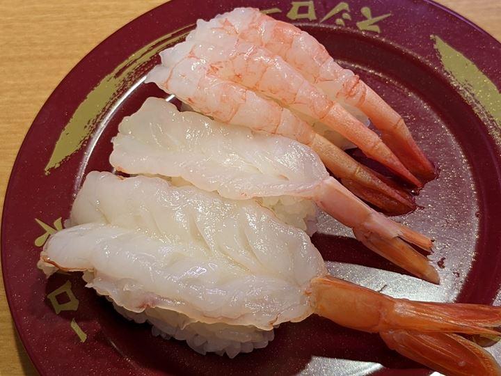 SUSHIRO スシロー Fresh Shrimps 天然生えび3貫盛り