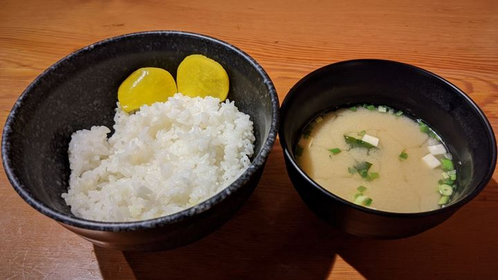 Torikizoku 鳥貴族 Rice and Miso Soup 白ごはん 味噌汁付