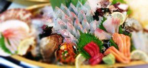 sashimi assortment on boat