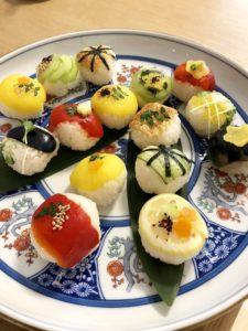 vegan temari sushi