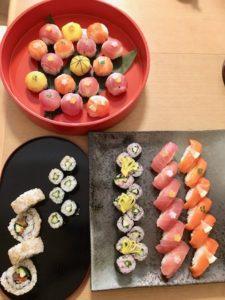 マグロとサーモンの寿司