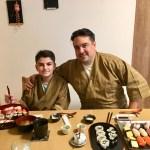 ゲストと美しい寿司