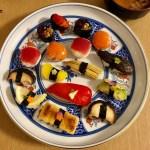 見た目も華やか、ベジタブル寿司