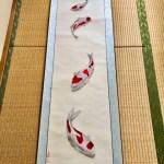 錦鯉 日本画掛け軸