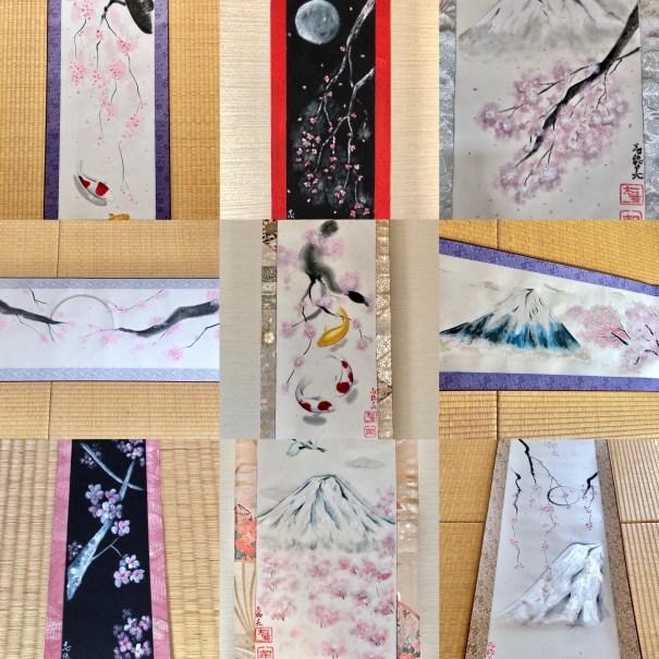 日本画 桜 掛け軸アート
