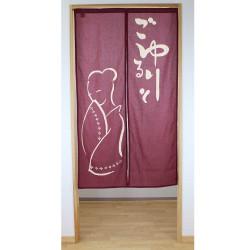 japanese cotton noren curtain onna