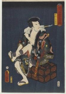 The Actor Kataoka Nizaemon VIII as Kumokiri Nizaemon