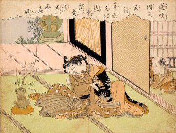 Flowers Do Not Wait (Suzuki Harunobu)