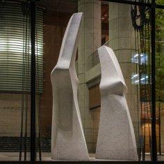 1. Haru Date: 2005 Material: Granite Dimension: 430 x 150 x 120 cm; 370 x 135 x 110 cm Collection: Mitsui Fudosan Co. Ltd., Tokyo Photo: Antoine Saito Copyright: DOUCET SAITO