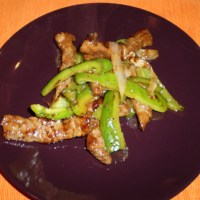 Gyuniku Itame: Stir-Fried Beef and Green Peppers