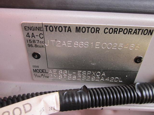 1985 Toyota SR5 AE86 21