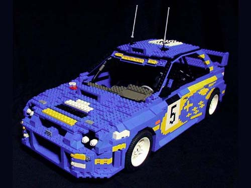 MINICARS  A beginner s guide to JNC Legos  Part 01   Japanese     Lego Subaru Impreza WRC 2001 by ken tucky 01