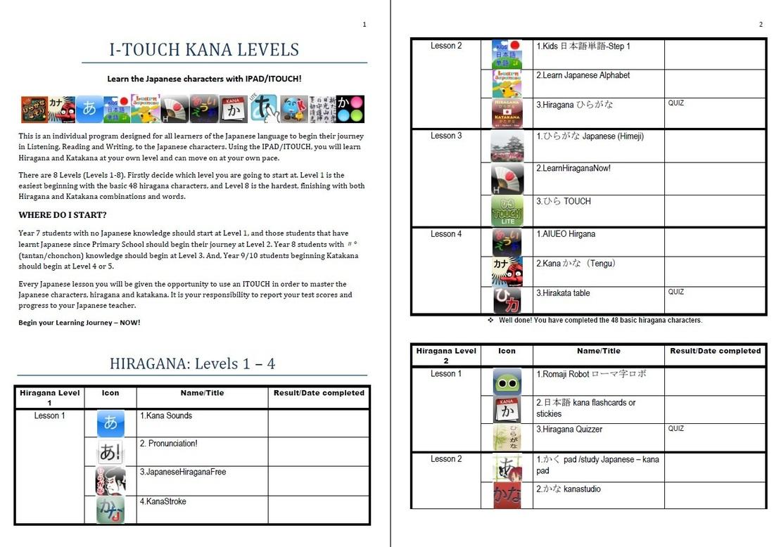 Japanese Character Worksheet
