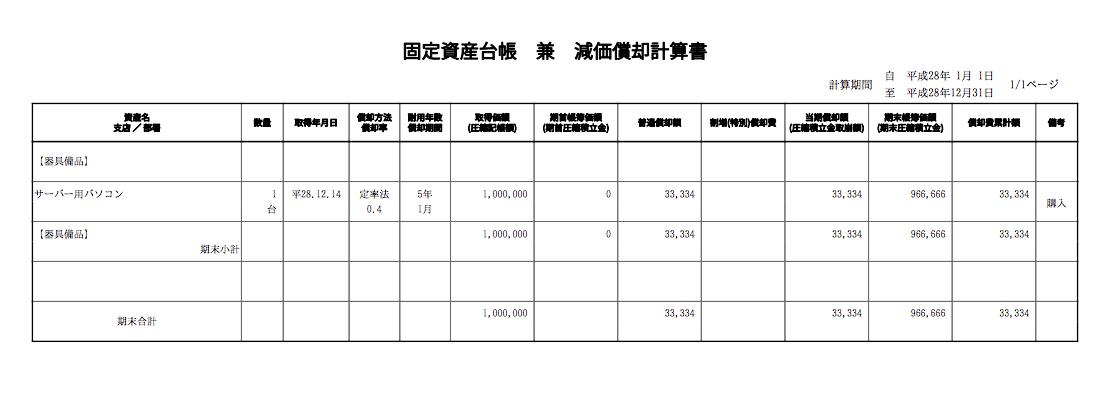 固定資産台帳pdf