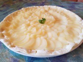 洋なしとマスカルポーネチーズのデザートピッツァ