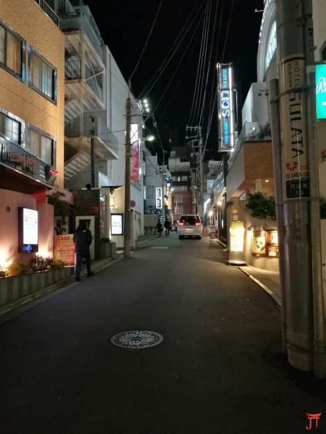 Une rue montante en plein Shibuya. Un max de Love Hotel dans les parages.