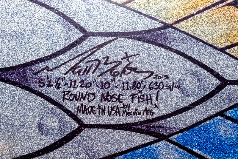 Lib Tech Mayhem Round Nose Fish signature