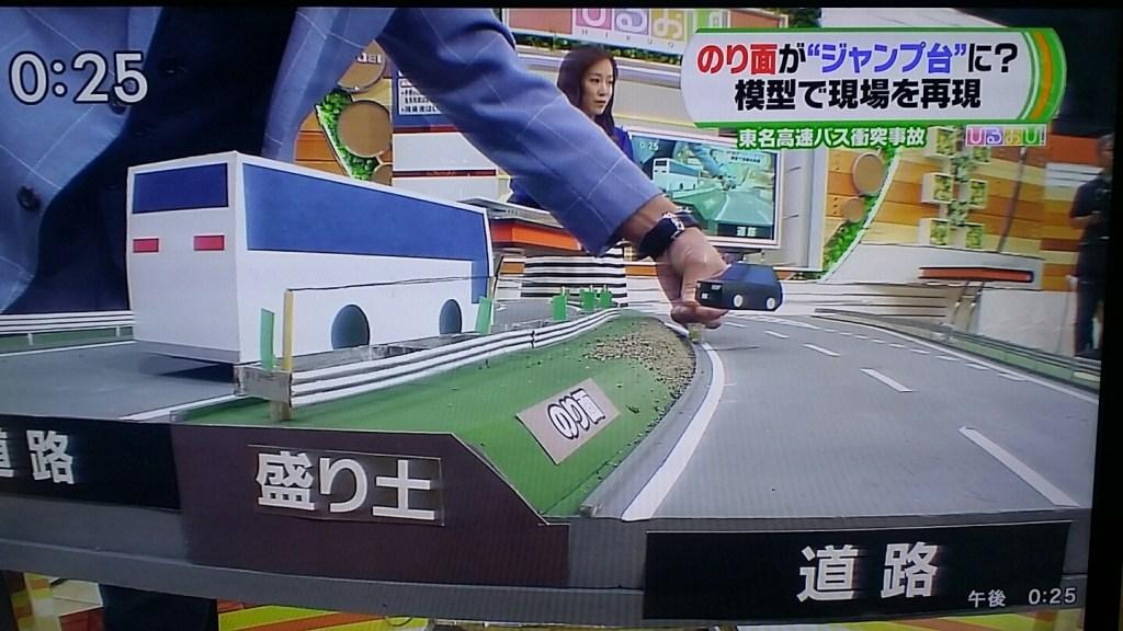 일본승용차버스충돌사고